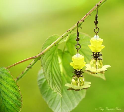Geheimer Garten Ohrringe Farben Bronze Gelb-31