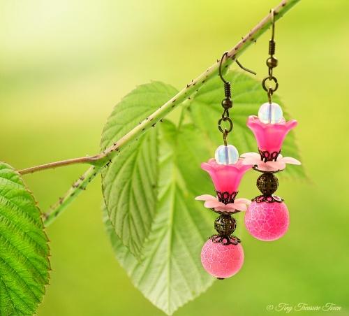 Geheimer Garten Ohrringe Farben Bronze Pink Rosa-31
