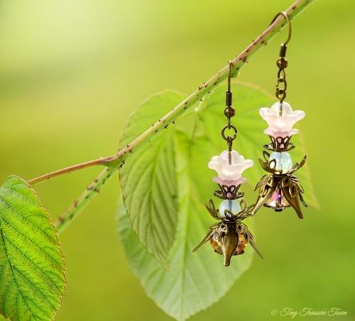 Geheimer Garten Ohrringe Farben Bronze Lila-31