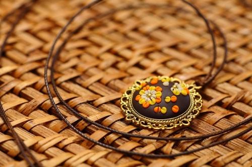 Braun Orange Gelb Creme Antik Gold-31