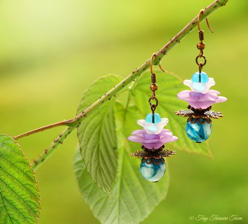 Geheimer Garten Ohrringe Farben Kupfer Türkis Lila-31