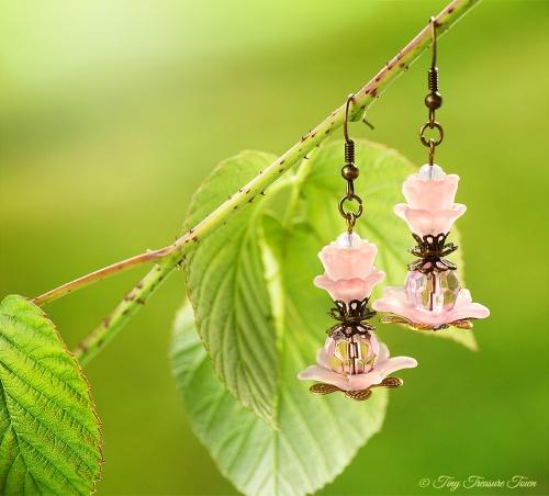 Geheimer Garten Ohrringe - Farben Bronze Rosa