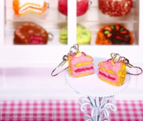 Fimo Torten Ohrringe Pitahaya Zitrone-31