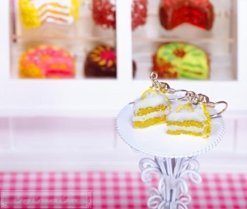 Fimo Torten Ohrringe Zitrone Sahnecreme-31