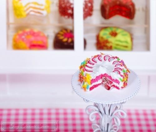 Fimo Torten Kette Pitahaya Regenbogenstreusel-31