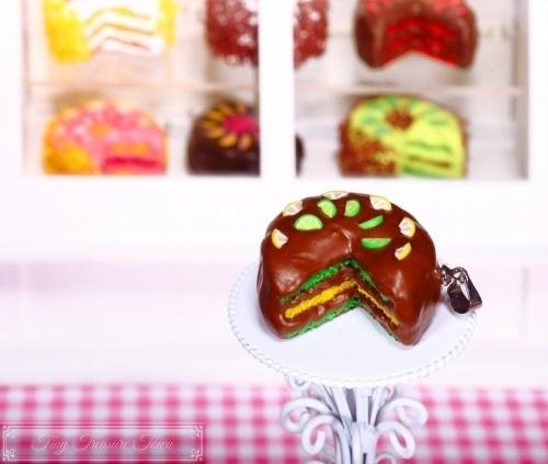 Fimo Torten Kette - Limette Zitrone Schokolade