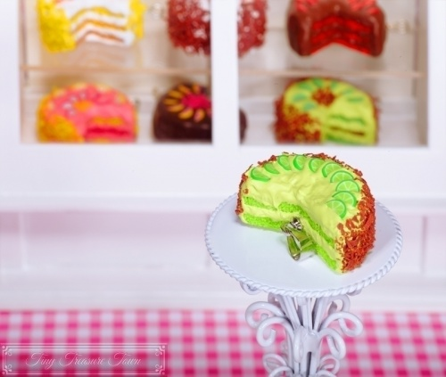 Fimo Torten Kette - Limette Schokolade