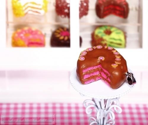 Fimo Torten Kette - Grapefruit Schokolade
