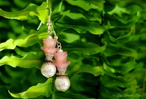 Geheimer Garten Ohrringe - Wunschanfertigung für Linda