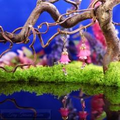Feenblumen Ohrringe - Gold Pink Rosa
