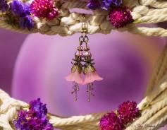 Feenblumen Ohrringe - Farben Bronze Rosa