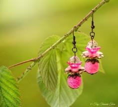 Geheimer Garten Ohrringe - Farben Bronze Pink Rosa