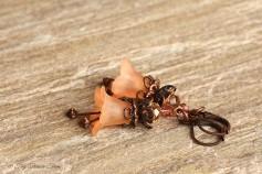 Feenblumen Ohrringe - Farben Helllachs Kupfer