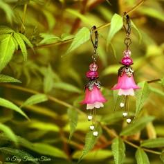 Feenblumen Ohrringe - Farben Bronze Pink Rosa Weiß
