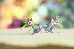 Geheimer Garten Ohrringe - Farben Silber Lila
