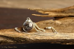 Tierfell Kette - Kleine Kugel