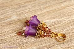 Feenblumen Ohrringe - Farben Messing Gold Lila