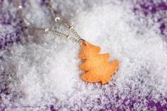 Handgemachte Keks Halskette - Tannenbaum