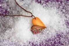 Handgemachte Keks Halskette - Herz Vollmilch