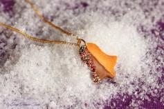 Handgemachte Keks Halskette - Glocke Vollmilch