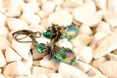 Feen Tautropfen Ohrringe - Bronze Petrol