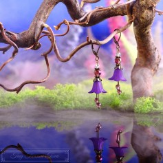 Feenblumen Ohrringe - Bronze Lila
