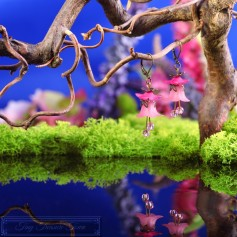 Feenblumen Ohrringe - Bronze Rosa Pink