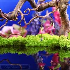 Feenblumen Ohrringe - Bronze Pink