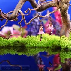 Feenblumen Ohrringe - Kupfer Rosa