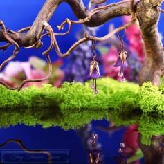 Feenblumen Ohrringe - Kupfer Lila
