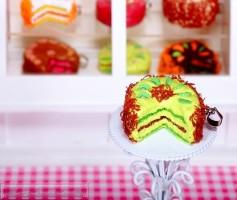 Fimo Torten Kette - Kiwi Schokostreusel