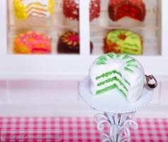 Fimo Torten Kette - Kiwi Sahnecreme