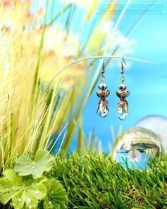 Feen Tautropfen Ohrringe - Bronze Türkis