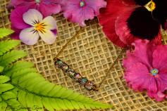 Seelenstein Halskette - Kleine Quarzkristalle mit Regenbogenschimmer