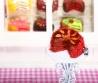Fimo Torten Kette Erdbeere Orange Schokolade-01